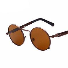 f5599f3b18 Vintage Fashion Round Sunglasses Gothic Steampunk Alloy Spring Leg UV 400  Dreamer Sunglasses- I Am