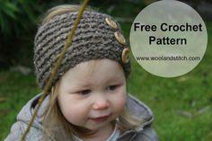 Wool and Stitch: Mini Kids Winter Warmer Headband - Free Crochet Pattern