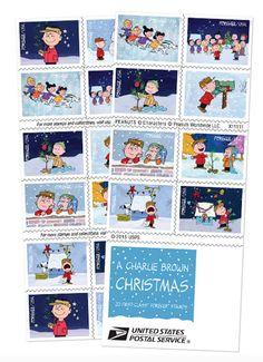 Charlie Brown Christmas U.S. Forever stamps set