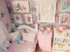 Schlafzimmer Doll OOAK Diorama - Blythe/Pullip/Pukifee/Lati/Yosd/BJD/Dal on Etsy, 203,10 €