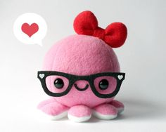Pink Octy with glasses! <3