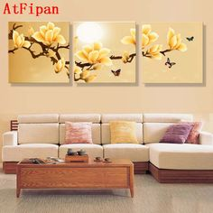 Online Shop AtFipan poster canvas Wall Art orchids Decoration art oil painting Modular pictures on the wall sitting room cuadros Unframed 3 Canvas Paintings, Cross Paintings, Canvas Art Prints, Canvas Wall Art, 3 Piece Canvas Art, Home Decor Paintings, Living Room Pictures, Home Decor Furniture, Art Oil