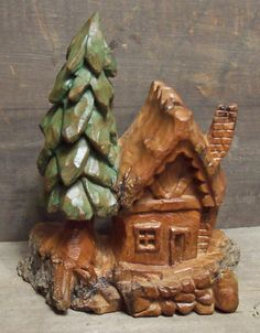 wood carving cottonwood bark | cottonwood bark houses - Woodcarving Illustrated Photo Gallery