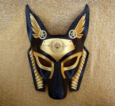 Industrial Anubis V6 ... original mixed media handmade steampunk egyptian jackal mask. $180.00, via Etsy.