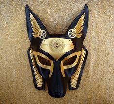 Industrial Anubis V6 ... original mixed media handmade steampunk egyptian jackal mask. $180.00, via Etsy.