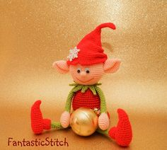 Christmas elf Amigurumi