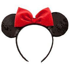Sequined Minnie Mouse Ears Headband, definitely having the bridesmaids wear these ; Silver Headband, Head Wrap Headband, Black Headband, Ear Headbands, Headband Hair, Hair Bow, Red Hair, Disney On Ice, Disney Theme