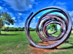 Spiral 1 Iron Art-work - Oyster Creek park, Sugar Land, Texas