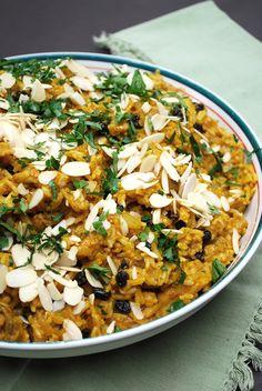 #PataksMom, poulet, biryani, amandes, raisins secs, pâte de curry,
