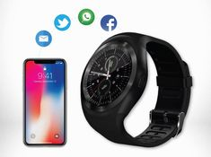 L'OROLOGIO INTELLIGENTE  Dimenticati del telefono. La rivoluzione è sul tuo polso! X-FunWatch non è solo un orologio, ma il compagno ideale durante la giornata! #italia Smartwatch, Bluetooth, Smartphone, Usb, Samsung, Tecnologia, Italy, Smart Watch