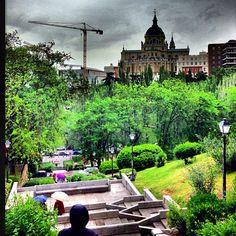 Parque de las vistillas de madrid al cielo pinterest for Jardines de las vistillas