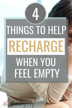 What do you do when you feel exhausted? As moms, we play a lot of roles and have a ton of responsibilities. But nourishing our soul is important for good health! Here are 4 tips to recharge when you feel empty and overwhelmed. #overwhelm #motherhood #familylife #exhaustion Christian Living, Christian Life, Christian Women, Jesus Girl, Salt And Light, Feeling Empty, Sisters In Christ, Seasons Of Life, Bible Truth