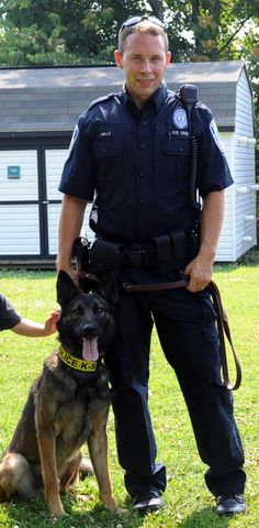 Officer Kevin Mills' partner, Sarik, specializes in detecting drugs and TREATS!