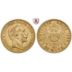 Deutsches Kaiserreich, Preussen, Wilhelm II., 20 Mark 1893, A, ss, J. 252: Wilhelm II. 1888-1918. 20 Mark 1893 A. J. 252; GOLD, sehr… #coins