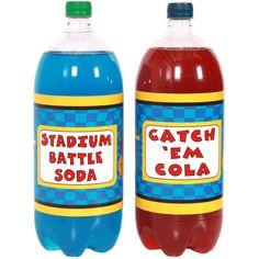 Pokemon Birthday Party Soda Bottle Labels. http://www.birthdaydirect.com/partymon-large-bottle-labels-p-41199.html