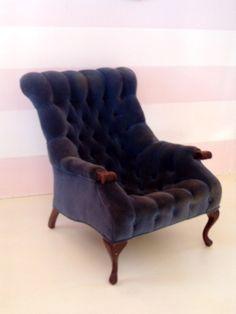 Tufted velvet chair.....Love it!!!!!