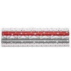 Julepapir Red Christmas 5 pk - Papir & Stempler for hobbyentusiasten