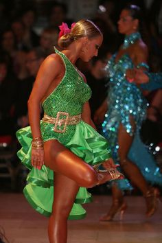 salsa bachata or latin dance dress - worn by Oxana Lebedew