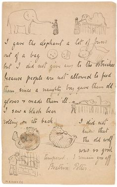 The Morgan Library - Beatrix Potter: Letter to Noel Moore, March 8, 1895