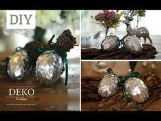 DIY: Große silberne Deko-Zapfen selber machen | Deko Kitchen - YouTube