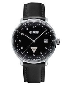 The Junkers Bauhaus 6046-2 Watch Black is made in Germany and features a 40mm stainless steel case, Swiss Ronda 515 movement with a domed hesalite crystal.