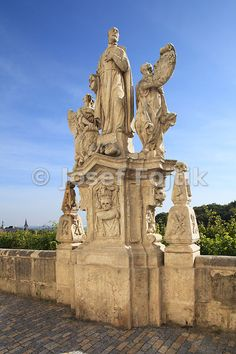 Statue of St. Francis Borgia, Jesuit College, Kutna Hora, Czech Republic, Europe