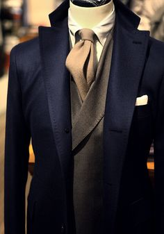 Giorgio Armani F/W 2013 - Obviously not for me, but oh my goodness, a man would look so good in this!!