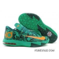 buy popular 2023f 601f0 Mens Nike KD 6 Easter Basketball Shoes Light Lucid Green Atomic Mango Lucid  Green Gorge Green Black 599424-303 New Release