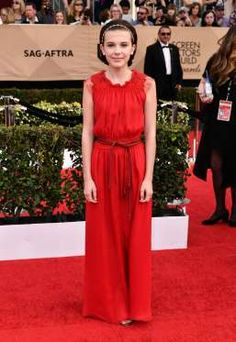 Millie Bobby Brown arrives at the 23rd Annual Screen Actors Guild Awards at the Shrine Auditorium in... - Rob Latour/REX/Shutterstock/Rex USA