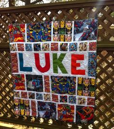 Super hero quilt photo