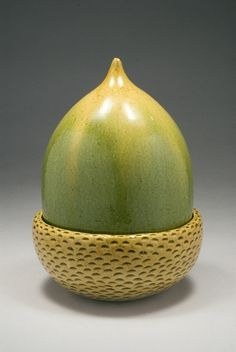 It's green and it's an acorn. Two of my favs in one. By Kate Malone, UK