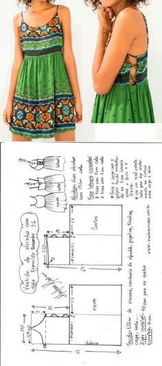 Ideas For Diy Ropa Verano Vestidos Diy Clothing, Sewing Clothes, Clothing Patterns, Sewing Patterns, Sewing Shirts, Dress Sewing, Diy Couture, Couture Sewing, Summer Dress Patterns