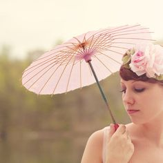 vintage pink parasol occupied japan umbrella shabby by whichgoose