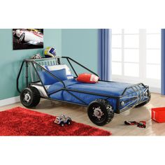 Found it at Wayfair - Metal Twin Racer Bed