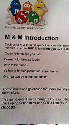Mm team building activity. Great for peer to peer elementary kids.