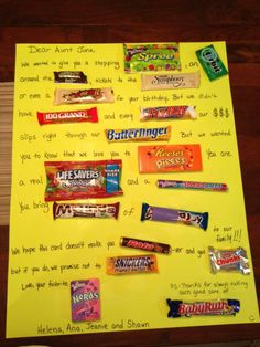 Candy card Neat Idea for any Occasion will have to try this