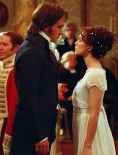 "Keira Knightly and Matthew MacFadyen in  ""Pride and Prejudice."""