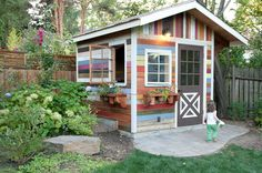 Image result for shed painted like beach hut