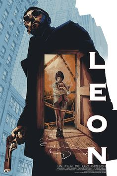 Leon (The Professional) movie poster by Barrett Chapman Posters Vintage, Retro Poster, Vintage Movies, Vintage Cartoon, Vintage Horror, Retro Print, Film Poster Design, Movie Poster Art, Film Movie