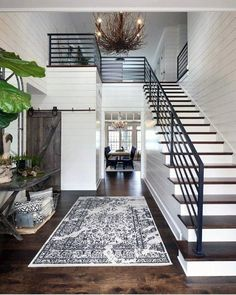From rustic wood to modern metal, discover the top 70 best stair railing ideas. Explore stunning indoor staircase design inspiration and styles. Staircase Design, Foyer Staircase, Staircase Ideas, Staircase In Living Room, Foyer Design, Spiral Staircases, Design Bedroom, Ship Lap Walls, Home Interior Design