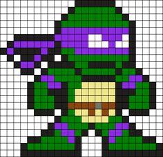 Donnie Perler Bead Pattern / Bead Sprite