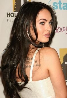 Megan Fox with a Long Layered Hairstyle