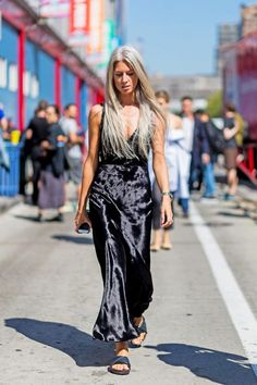 Sarah Harris kills in the velvet trend at NYFW