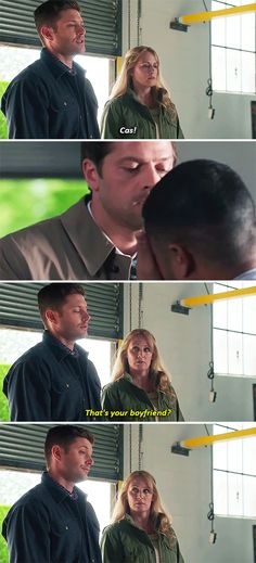 That's your boyfriend? #spn #destiel