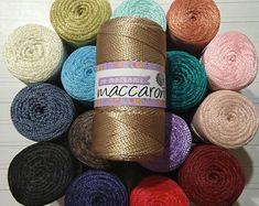 Etsy :: Your place to buy and sell all things handmade Yarn Cake, Rug Yarn, Diy Crochet Bag, Crochet Yarn, Pp Rope, Halloween Yarn, Cotton Cord, Macrame Supplies, Ribbon Yarn