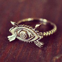 The Pamela Love Oculus Arrow ring in Bronze.  $106