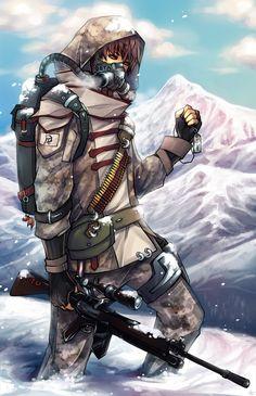 Soldier_in_the_Snow by *Unodu on deviantART