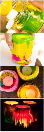 use dollar store fake votives for safety