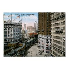 Greeley Square Broadway New York City 1921 Vintage Print from Zazzle.com
