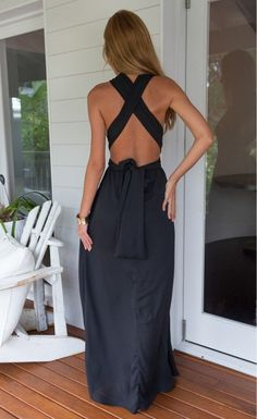 Black Perfect Date Maxi Dress